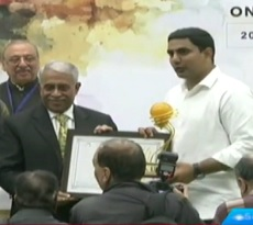 AP IT minister Nara Lokesh receives Kalam Innovations in Governance Award
